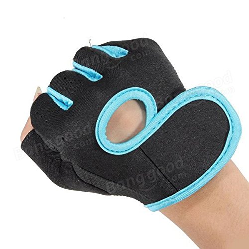 Cycling Training Weightlifting Boating Half Finger Gloves ( Blue )