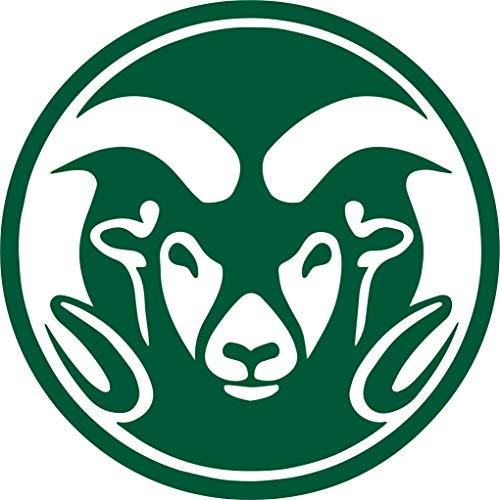 Rams Colorado State University (GREEN) (set of 2) Premium Waterproof Vinyl Decal Stickers for Laptop Phone Accessory Helmet Car Window Bumper Mug Tuber Cup Door Wall Decoration