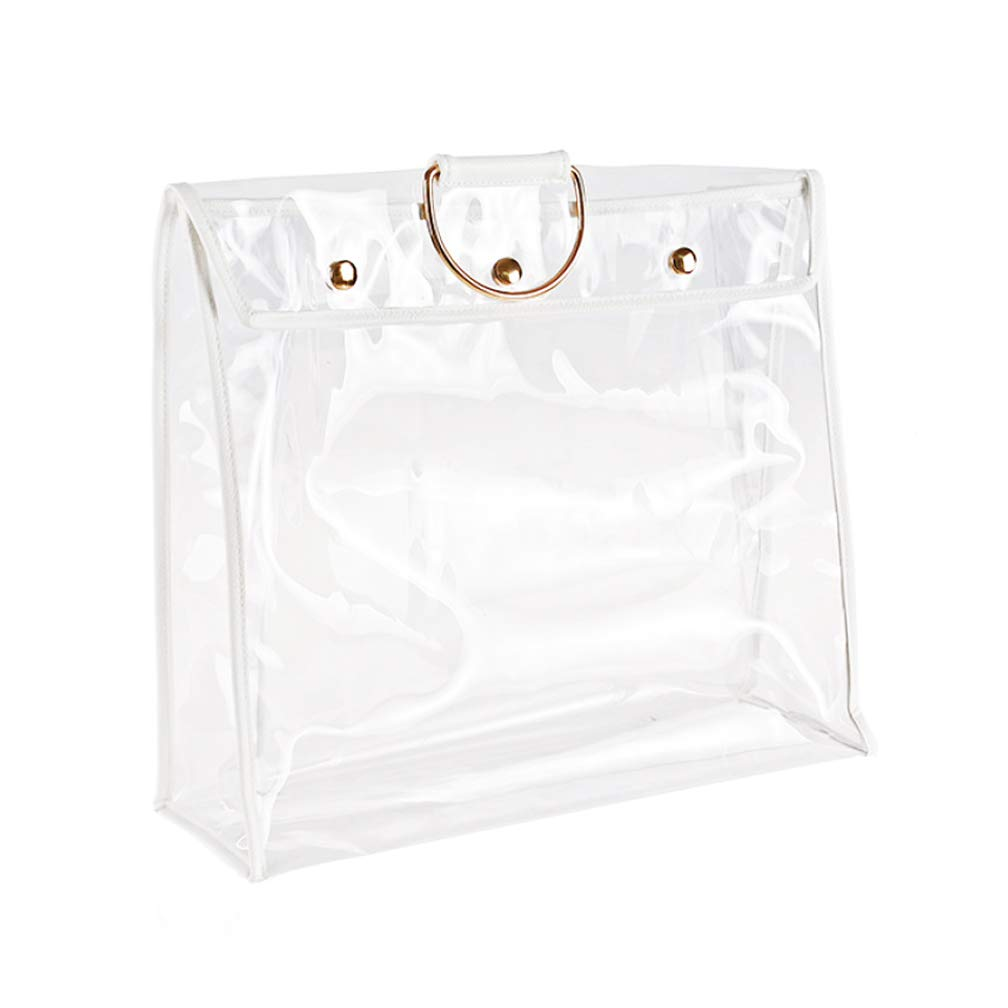 SYROVIA Transparent Dust Bag Clear Purse Organizer Dustproof Handbag Holder with Magnetic Snap & Hanging Ring - 17.3 ins wide