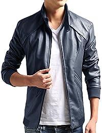ZSHOW Men's Casual Leisure PU Faux Leather Jacket