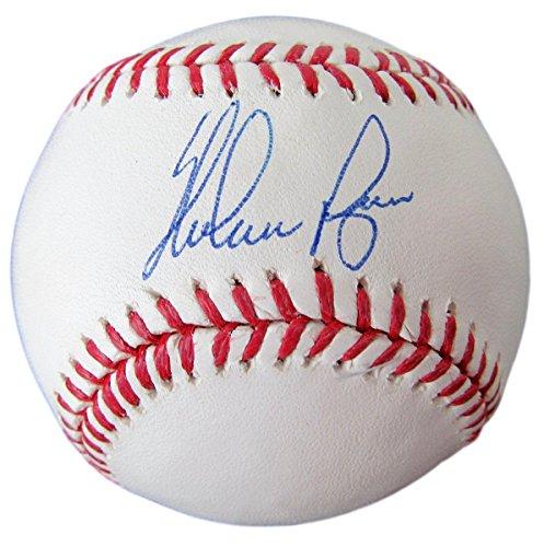 Ball Ryan Nolan (Nolan Ryan Texas Rangers Autographed/Signed Baseball Ryan Hologram 136184)