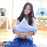 Children Bed Soft Pillow Star Pillow Cute Cushions Pillow For Home Decoration Camera Props By Makaor (Size:45cm(subject to the error 2-3cm) Weight:325g, Blue)