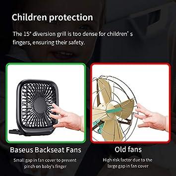 DZSF Foldable Mini USB Fans Car Back Seat Cooler Fan Portable Air Cooling Fan for Home Travel Car Desktop Office Fans