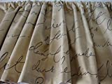 Valance Waverly Pen Pal French Script Window Treatment Topper Custom Made Review