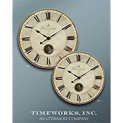 Uttermost Harrison Gray 23-Inch Wall Clock