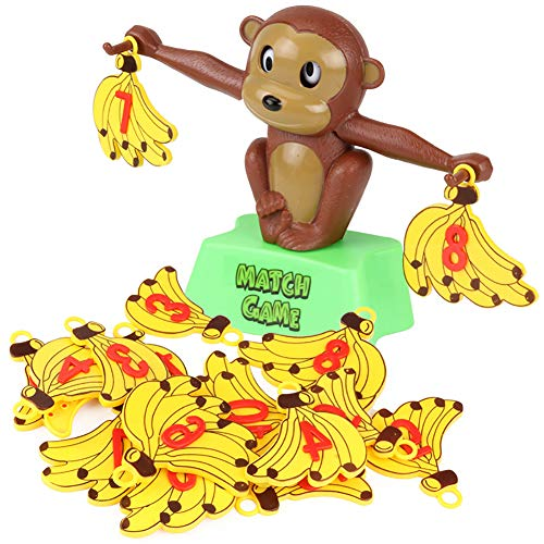 LBgrandspec a2s8wq Toys Monkey Banana Game Math Balancing Scale Children Educational Toy Learning Aid ()