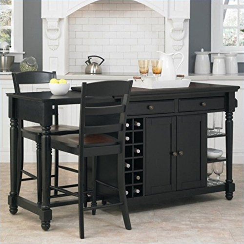 Home Styles Grand Torino Kitchen Island and Stools 3 Piece