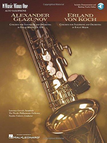 Glazunov - Concerto in E-flat Major, Op. 109; Von Koch - Concerto in E-flat Major Music Minus One Alto Saxophone (Tapa Blanda)