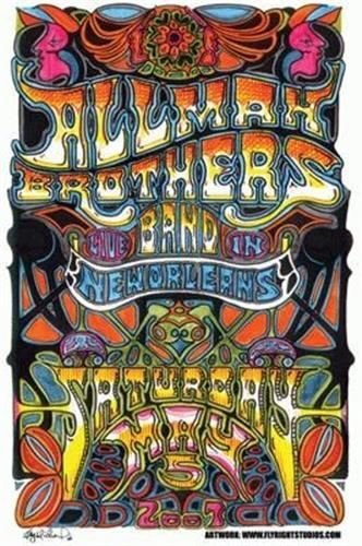 [The Allman Brothers Band Poster New Orleans 2007] (Allman Brothers Posters)