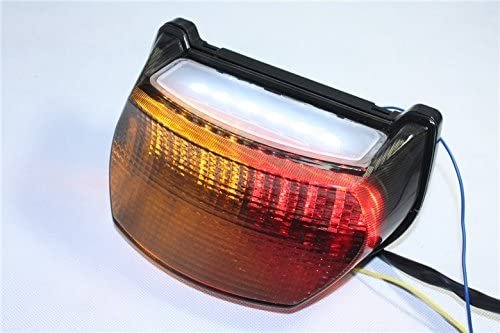 HTT Group Motorcycle Clear Led Tail Light Brake Light with Integrated Turn Signals Indicators For Kawasaki Ninja 1996-2003 ZX-7R / ZX750 / ZX-7RR - ...