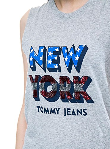 Tommy Light Americana T shirt Sequin Donna Jeans Grey Xs Canotte Dw0dw04073 E rrqRwSOEzx