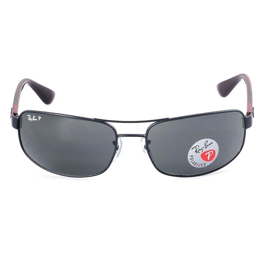 9d95c79f01f Amazon.com  Ray Ban RB3445 006 P2 61 Matte Black Gray Polarized Sunglasses  Bundle-2 Items  Clothing
