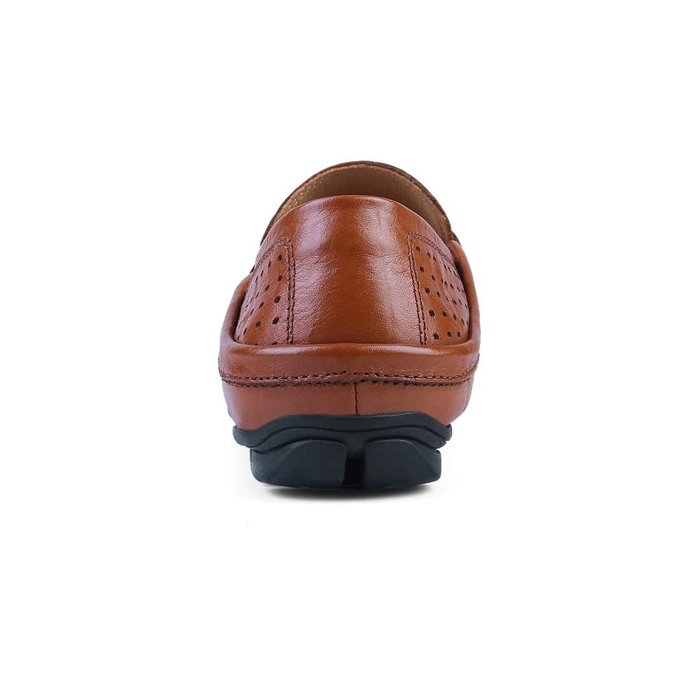 Xujw schuhe, 2018 Herren Mokassins Männer Wave Sohle Slip Soft & Super Light Slip Sohle On Fashion Mokassins Driving Loafer (Farbe : schwarz Hollow, Größe : 48 EU) Braun Hollow 2016f8