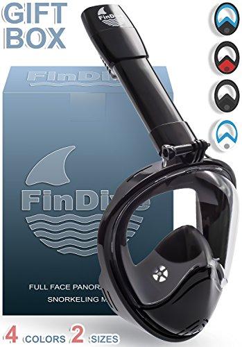 Easy Breath Surface Scuba Mask Full Face Design For Action Camera (Black) - 5