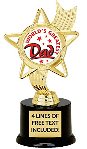 World's Greatest Dad Trophy, Custom Engraving, Great Gift for Birthday Or Fathers ()