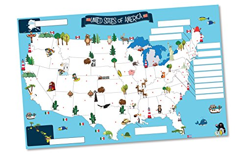 Amazon usa map memory game and activity paper placemats learn amazon usa map memory game and activity paper placemats learn the states and capitals on 25 fun double sided worksheets home kitchen gumiabroncs Choice Image