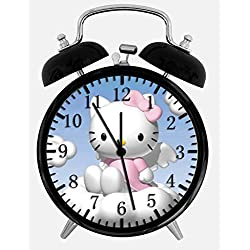 Hello Kitty Twin Bells Alarm Desk Clock 4 Home Office Decor W173 Nice for Gifts