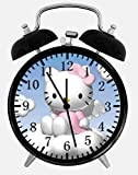 Hello Kitty Twin Bells Alarm Desk Clock 4' Home Office Decor W173 Nice for Gifts
