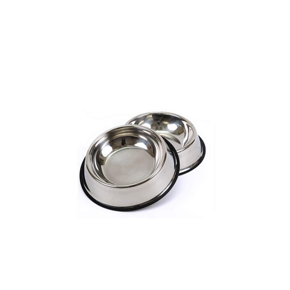 M Dog Bowl, Stainless Steel, Rubber Base for Small and Medium Dogs, Pet Feeding Bowl and Water Bowl Perfect Choice (Set of 2) Fun Feeder, Pet Feeding Bowl and Water Bowl Perfect Choice, Ver