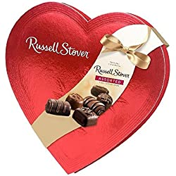 Russell Stover Candies Red Foil Heart Chocolate Assortment, 14 oz.