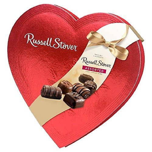 Russell Stover Candies Red Foil Heart Chocolate Assortment  14 Oz