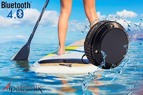 Kayak Waterproof Speaker Rugged Wireless Bluetooth w MIC Kayak and Paddle-board by Canoe