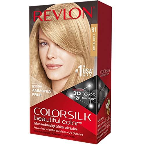 Revlon ColorSilk Beautiful Color, 81 Light Blonde1 kit (Pack of 5)