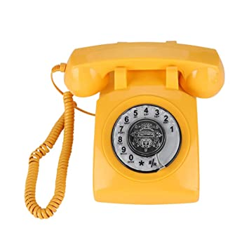 Eboxer Retro wählsc heibe Teléfono Vintage Teléfono Fijo ...
