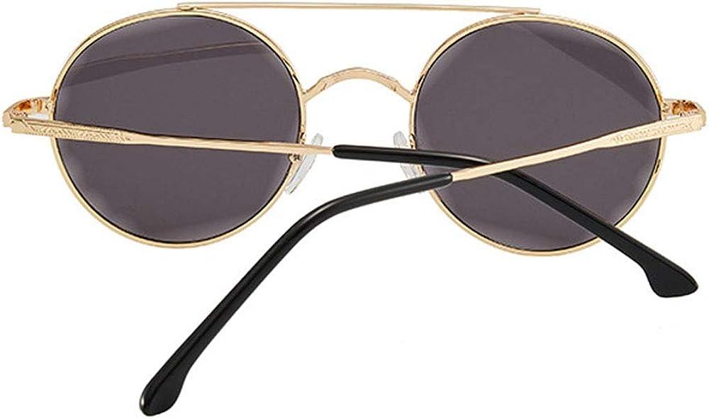 Lunettes de soleil surdimensionnées classiques pour femmes, verres polarisés HD 100% Protection Fashion Lunettes rétro, monture dorée noir gris Cadre Doré Gris Noir