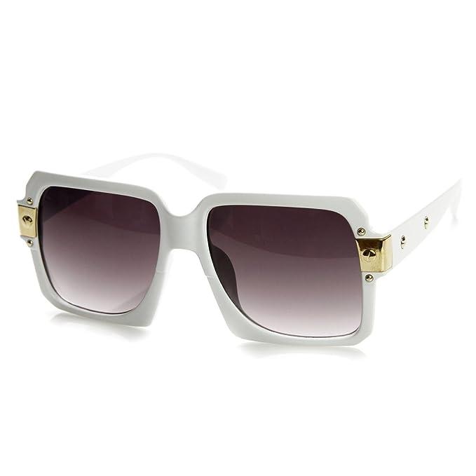 Kiss® lunettes de soleil - inspirés par le mod de style CAZAL SPÉCIAL - Old School HIP-HOP homme femme VINTAGE - ROUGE LUGUZ