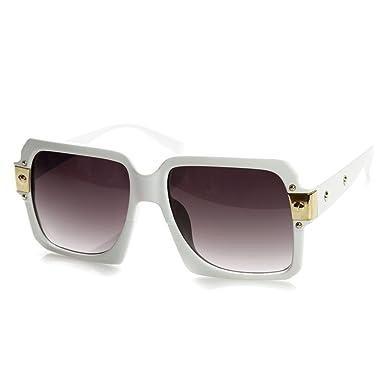 Kiss® lunettes de soleil - inspirés par le mod de style CAZAL SPÉCIAL - Old School HIP-HOP homme femme VINTAGE - BLANC aCvpG4axfS