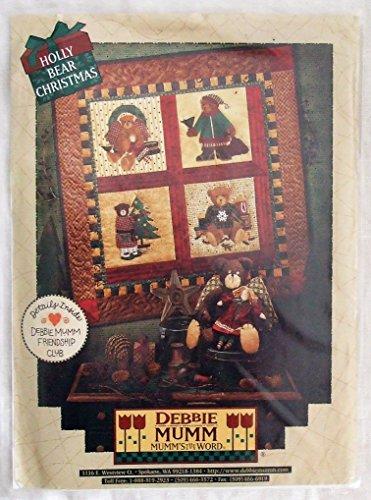 - Debbie Mumm Holly Bear Christmas Patterns For Angel Bear, Rag Doll Stuffed Bird & Wall Hanging
