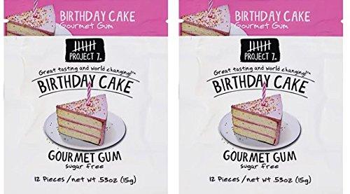 (Pack of 2) Birthday Cake Gourmet Gum 12 - Cake 7 Birthday Project