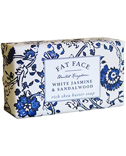 Fat Face, White Jasmine & Sandalwood, Rich Shea Butter Soap | Moisturise and Hydrate Skin With Shea Butter | Soap For Dry Skin, Damaged Skin & Sensitive Skin | 240g
