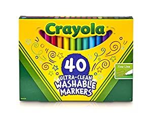 Crayola Ultra Clean Fine Line Markers Washable 40 Count