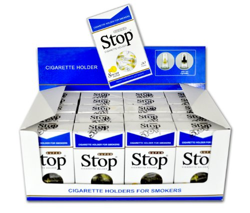 New and Improved Super Stop Disposable Cigarette Filters - 20 Packs (Blue) by Super Stop