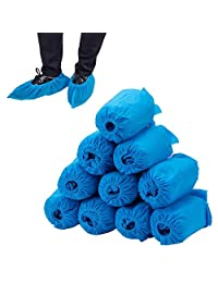 100 pcs Home Disposable Thick Boot & Shoe Cover (5g / pc) - Non-Skid & Durable for Workplace, Medical, Indoor or Car Carpet Floor Protection