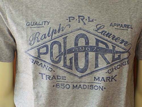 Ralph Lauren T-Shirt Antrhazit 1967 Grau Blau Madison