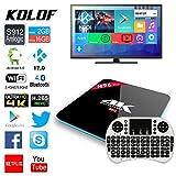 KOLOF H96 PRO Android 6.0 OTT TV Box Octa Core Amlogic S912 KODI 17.0 2G 16G Streaming Media Player with Mini Keyboard