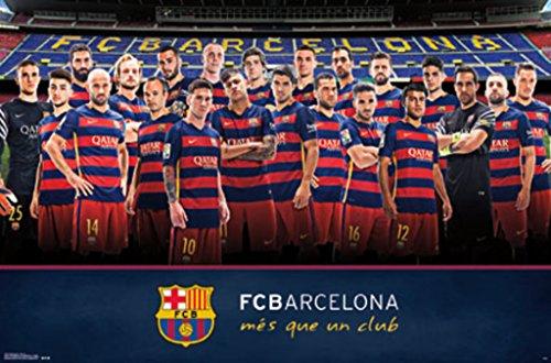 Trends International FC Barcelona Team Wall Poster 22.375