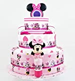 Beautiful Bows Minnie Mouse Baby Girl Diaper Cake