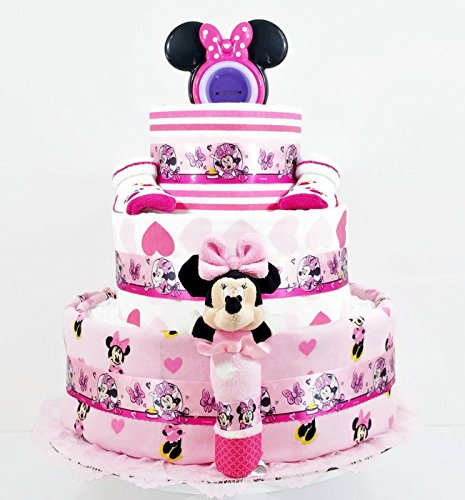 Beautiful Bows Minnie Mouse Baby Girl Diaper Cake by As Your Baby Grows Gift Boutique