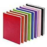 KAIDELIN 4 packs A5 Journals Notebook, PU Leather Cover Writing Diary Travel Journal, Ruled,192 Pages(random color)
