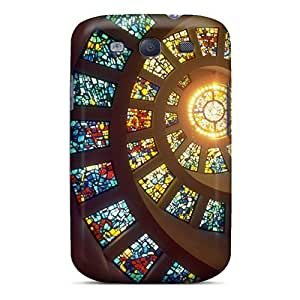 Spiral Stained Glass Case Compatible With Galaxy S3/ Hot Protection Case