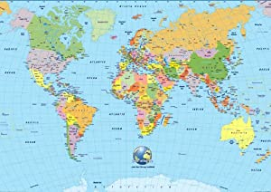 A Icing Sheet Cake Toppers Handbag World Map Globe Earth - Earth globe map