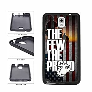 American Flag Proud To Be A Marine TPU RUBBER Phone orange Case Back Cover Samsung Galaxy get Note III 3 N9002 Acne your