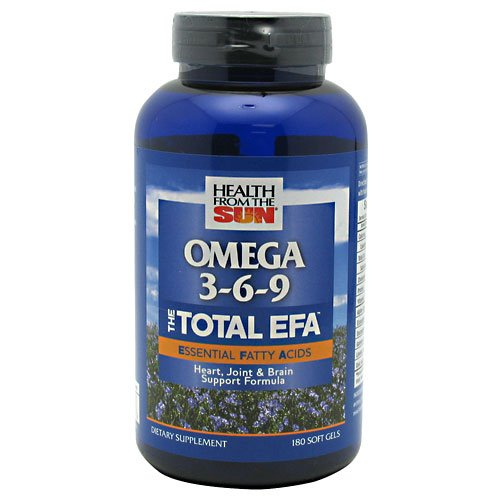 Health From The Sun The Total EFA Omega 3-6-9 180 Softgels