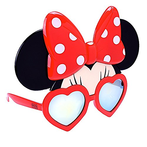 Sun-Staches Disney Minnie Mouse Character Sunglasses, Instant Costume, Party Favors, UV400, Adult and Children 3+, Multi]()
