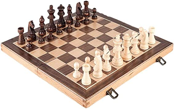 CAIM ELM ajedrez, Juego de ajedrez Plegable, for no magnético de ajedrez Plegable Caja, Regalo y Juego de Mesa for Adultos y niños (pequeño, Grande) (Size : L) : Amazon.es: Juguetes
