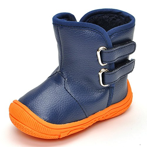 Toddler Boys' Rubber Sole Winter Snow Boots Navy, 18-24 Months (Boots Snow Winter Toddler)